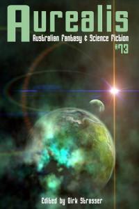 Aurealis #73 cover Yvonne Less - Green planet halo